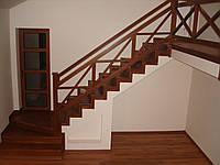 Деревянная лестница из массива дуба или ясеня ST3