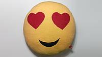 Мягкая игрушка-подушка ручной работы Смайлик (глазки-сердечки), фото 1