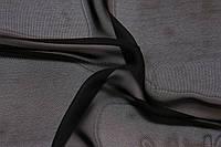 Ткань Шифон однотонный цвет черный ширина 1,5 м