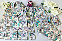 Женская Пижама.Одежда для сна.Пижама единорог.Жіноча піжама.Одяг для сна і дому