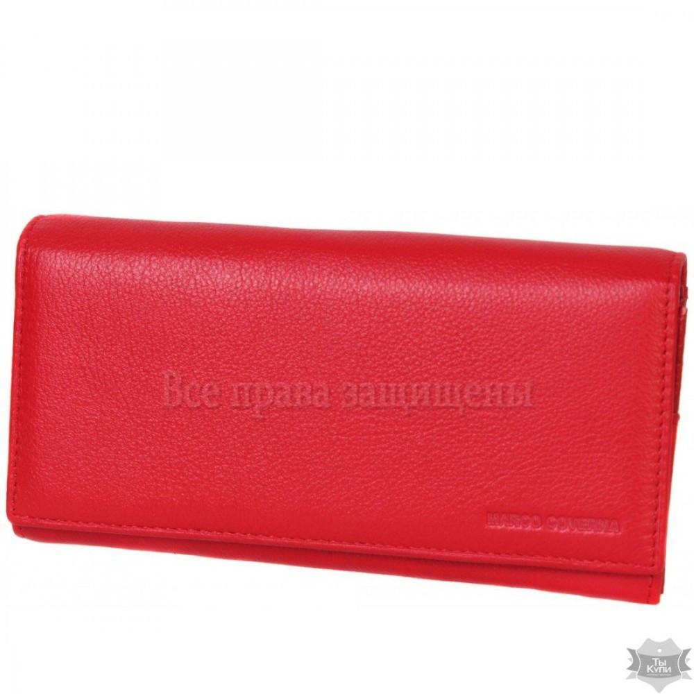 b56fa5d40862 Женский красный кошелек из натуральной кожи Marco Coverna MC-2028-2 - Arion-