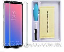 Захисне скло на весь екран для Samsung Galaxy S9 Plus (Nano optics Curved Glass), фото 2
