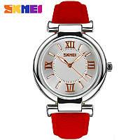 Skmei 9075 elegant красные женские классические часы, фото 1