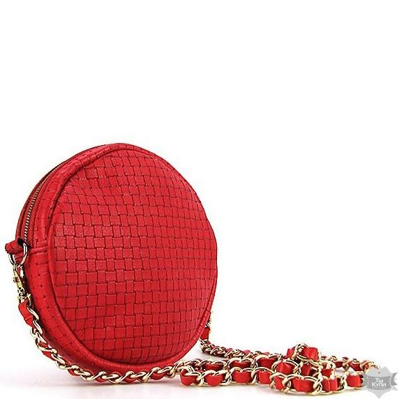 5d48ca84e9af Небольшая красная круглая кожаная сумка ручной работы Viladi - Arion-store  - кожгалантерея и аксессуары