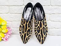Шикарные туфли бабуши из натуральной замши и меха пони яркой леопардовой расцветки 36,37,38,39,40,41, фото 1