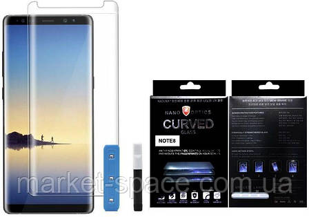 Защитное стекло на весь экран для Samsung Galaxy Note 8 (Nano optics Curved Glass), фото 2