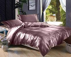 Комплект постельного белья из атласа Лиловый каприз