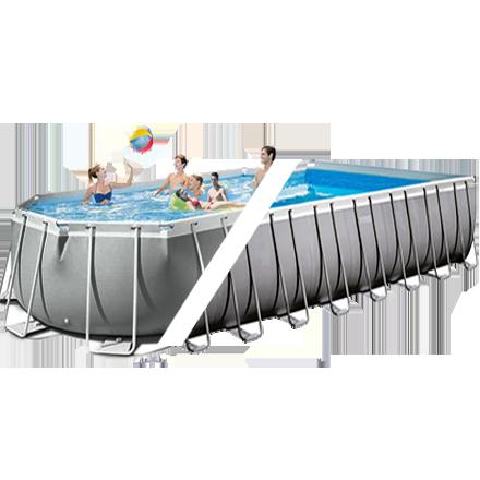 Каркасный бассейн Intex 26378, 975 х 488 х 132 см (11г/ч-10 000 л/ч, набор, лестница, тент, подстилка)