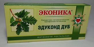 Свечи с экстрактом коры дуба Эдуконд дуб,10шт-свечи от геморроя кровоостанавливающие трещина заднего прохода