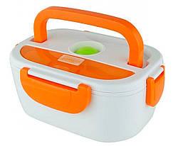 Ланч-бокс с подогревом Electronic Lunch Box от прикуривателя 12V (оранжевый)