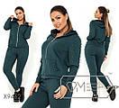 Женский спортивный костюм в больших размерах с жемчугом X9462, фото 2