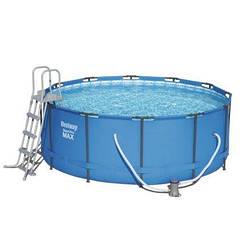 Каркасный бассейн MAX Bestway 56420 (56088), 366 х 122 см (2 006 л/ч, лестница, тент, подстилка)