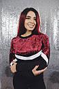 Женский джемпер в больших размерах с велюром 53ba1320, фото 2