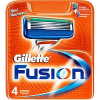 Сменные кассеты для бритья 4 шт (В уп) (Original) - Gillette Fusion