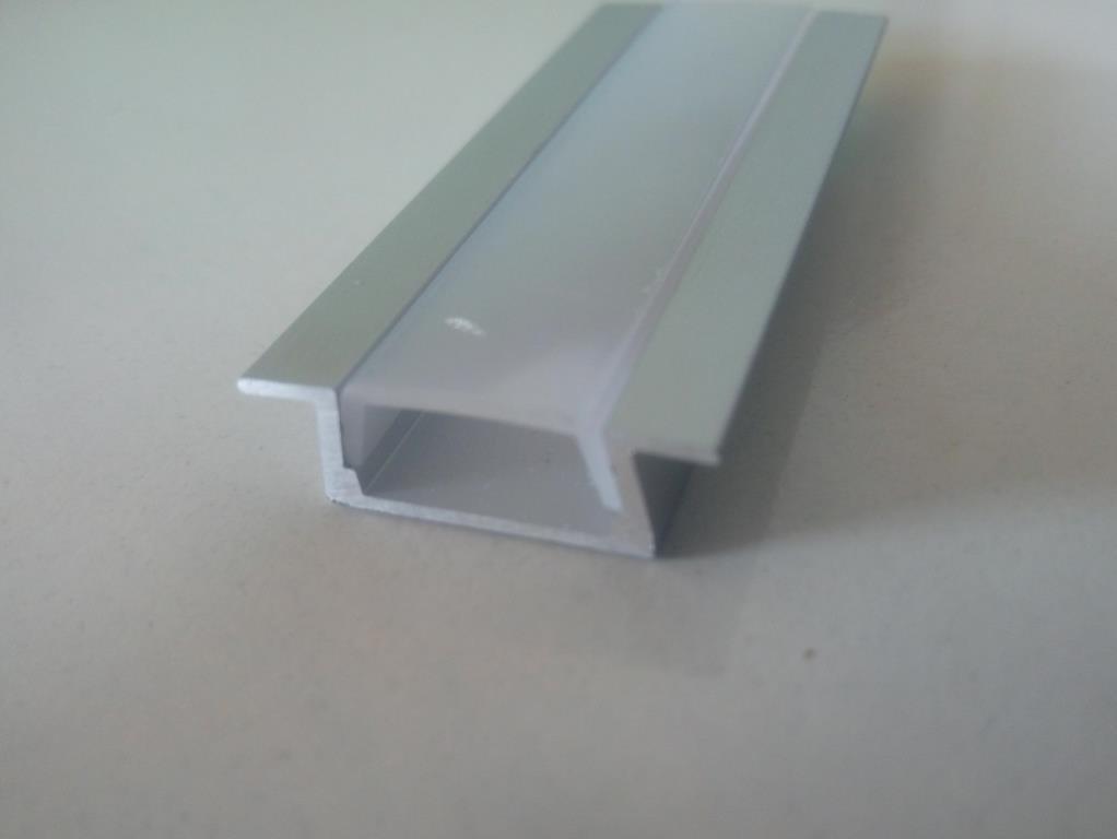 Врезной алюминиевый профиль вместе с рассеивателем  для LED ленты АЛ-01-1