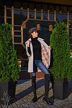 Серое весеннее пальто с рукавом 3/4 размер oversize 42-46, фото 2