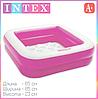 Детский надувной бассейн Intex 57100, розовый, 85 х 85 х 23 см, фото 4