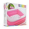 Детский надувной бассейн Intex 57100, розовый, 85 х 85 х 23 см, фото 8