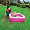 Детский надувной бассейн Intex 57100, розовый, 85 х 85 х 23 см, фото 10