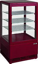 Холодильный шкаф-витрина Saro SC 70 red