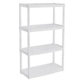 Стелаж 4 полиці білий флок