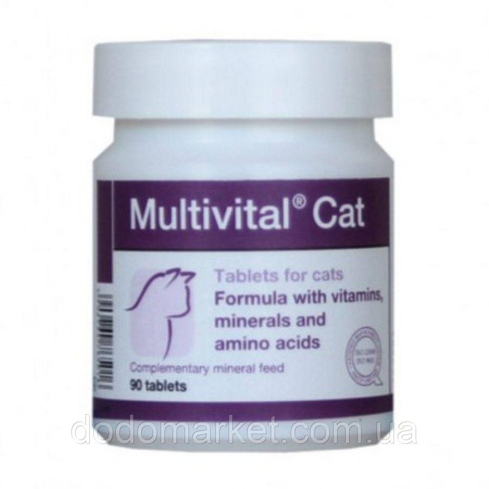 Витамины для кошек Dolfos Multivital Cat 90 таблеток