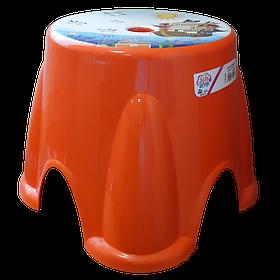 Табурет Irak Plastik Ton Ton №1 оранжевый