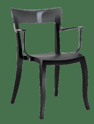 Кресло Papatya Hera-K черное сиденье, верх прозрачно-дымчатый, фото 2