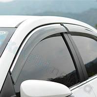 Дефлекторы окон (ветровики) с хромированным молдингом
