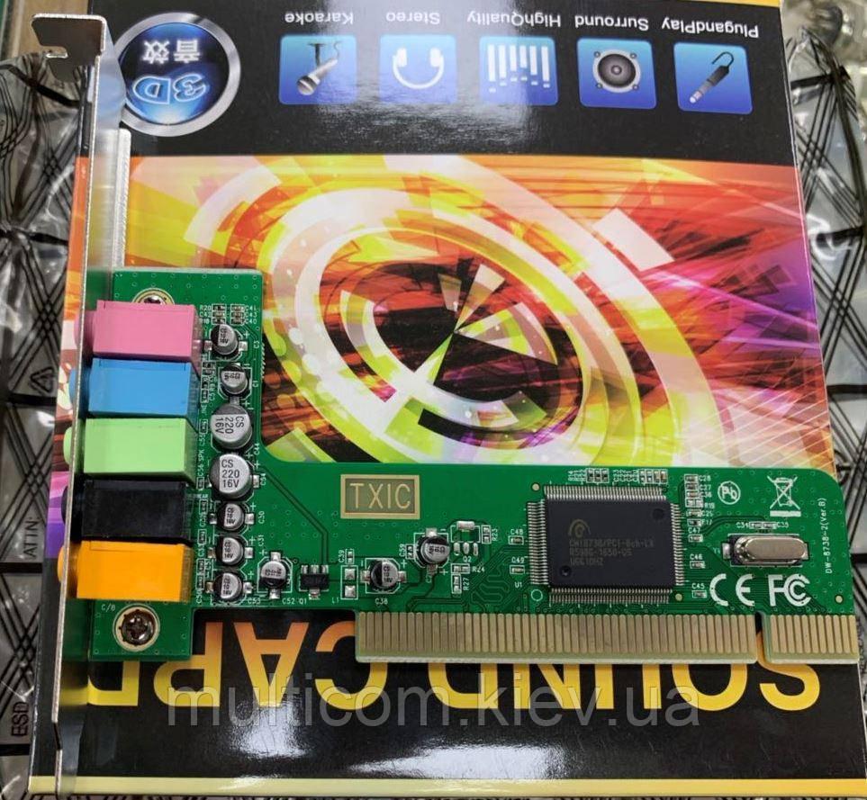 02-02-011. Звуковая карта PCI 5,1СН (c-media 8738), Box