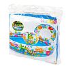 Детский надувной бассейн Intex 59469 «Аквариум» с мячом и кругом, 132 х 28 см, фото 10