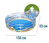 Детский надувной бассейн BestWay 51045 «Морской мир», 150 х 53 см, фото 3