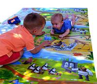 Детский теплоизоляционный развивающий игровой коврик «Мадагаскар» 2000×1200×12мм, ХС ППЭ