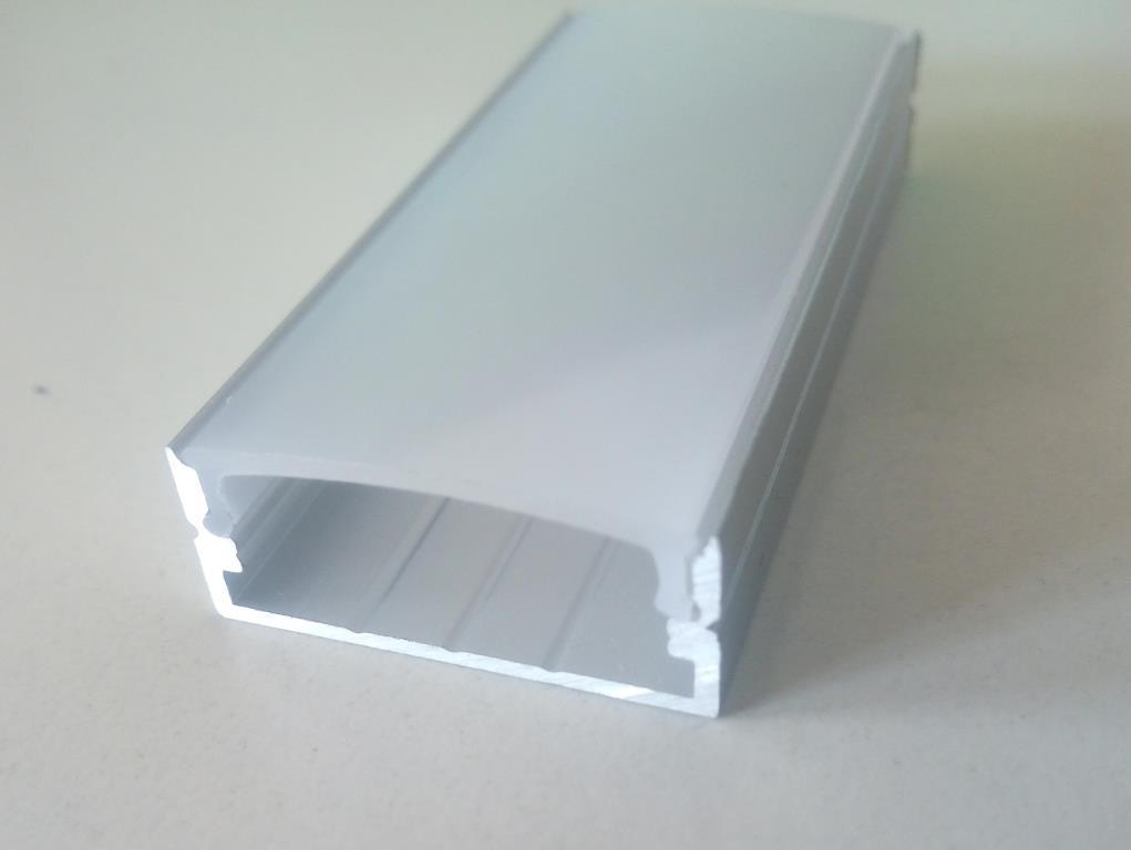 Накладний алюмінієвий профіль разом з розсіювачем 2 м для LED стрічки АЛ-15
