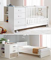 Кроватка детская для младенца ДМ-020 с матрасиком