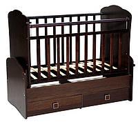 Детская кроватка для новорожденного дм 015 с матрасиком