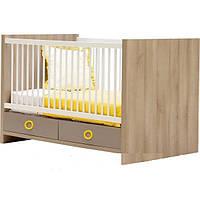 Детская кроватка для младенца Дм 06 с матрасиком