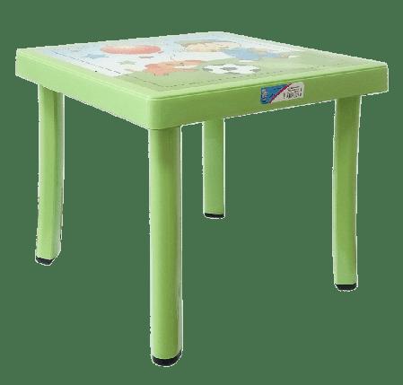 Стол детский декорированный 46,5x46,5 зеленый, фото 2