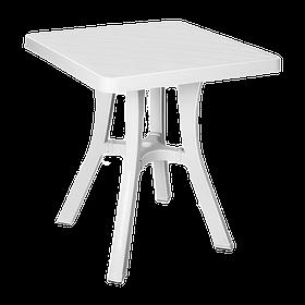 Стол квадратный Irak Plastik Royal 70x70 см белый
