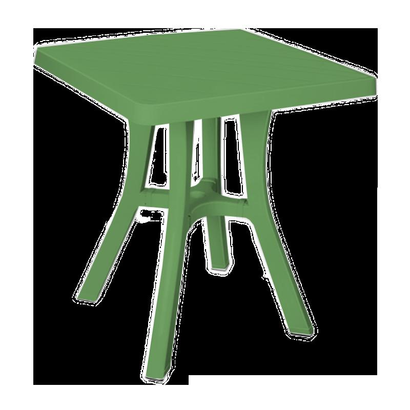 Стол квадратный Irak Plastik Royal 70x70 см зеленый