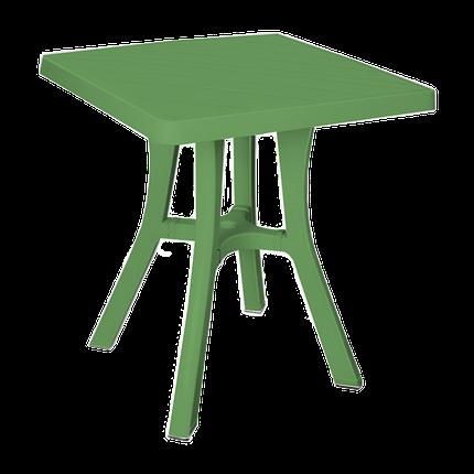 Стол квадратный Irak Plastik Royal 70x70 см зеленый, фото 2