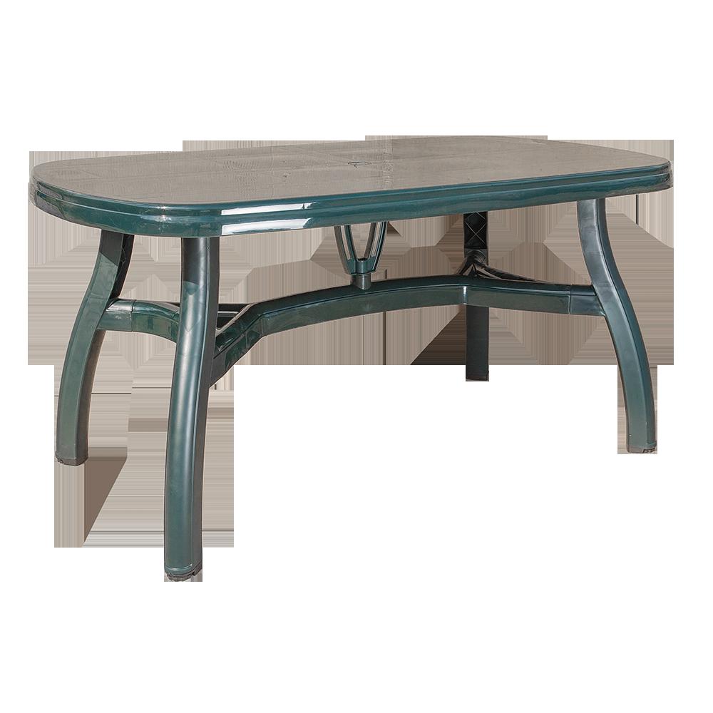 Стол овальный Irak Plastik King 90x150 зеленый