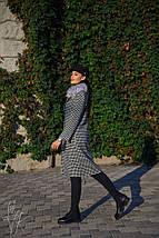 Елегантне демісезонне пальто з принтом гусячі лапки 42-44р, фото 2