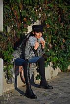 Елегантне демісезонне пальто з принтом гусячі лапки 42-44р, фото 3