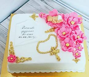 Торт на Крещение девочки 1