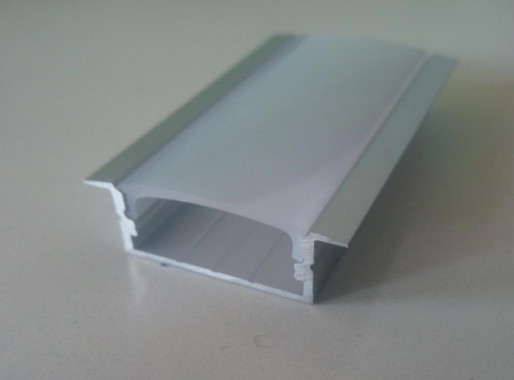 Врізний алюмінієвий профіль разом з розсіювачем 2 м для LED стрічки АЛ-16, фото 1