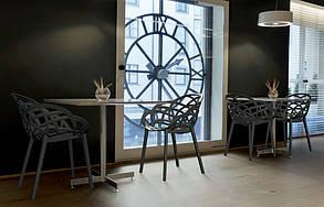 Кресло Papatya Flora прозрачно-дымчатое сиденье, низ антрацит, фото 3