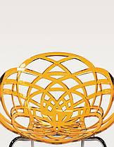 Кресло Papatya Flora-ML матовое черное сиденье, ножки хром, фото 2