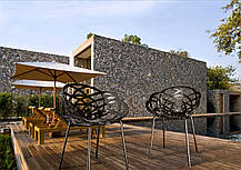 Кресло Papatya Flora-ML прозрачно-дымчатое сиденье, ножки хром, фото 2