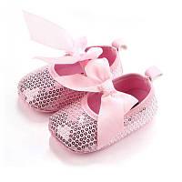 Нарядные туфельки-пинетки для малышки 12 см., фото 1